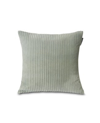 Velvet Cord Cotton Pillow Cover, Sage Green