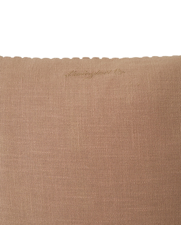 Velvet Cord Cotton Pillow Cover, Dark Beige
