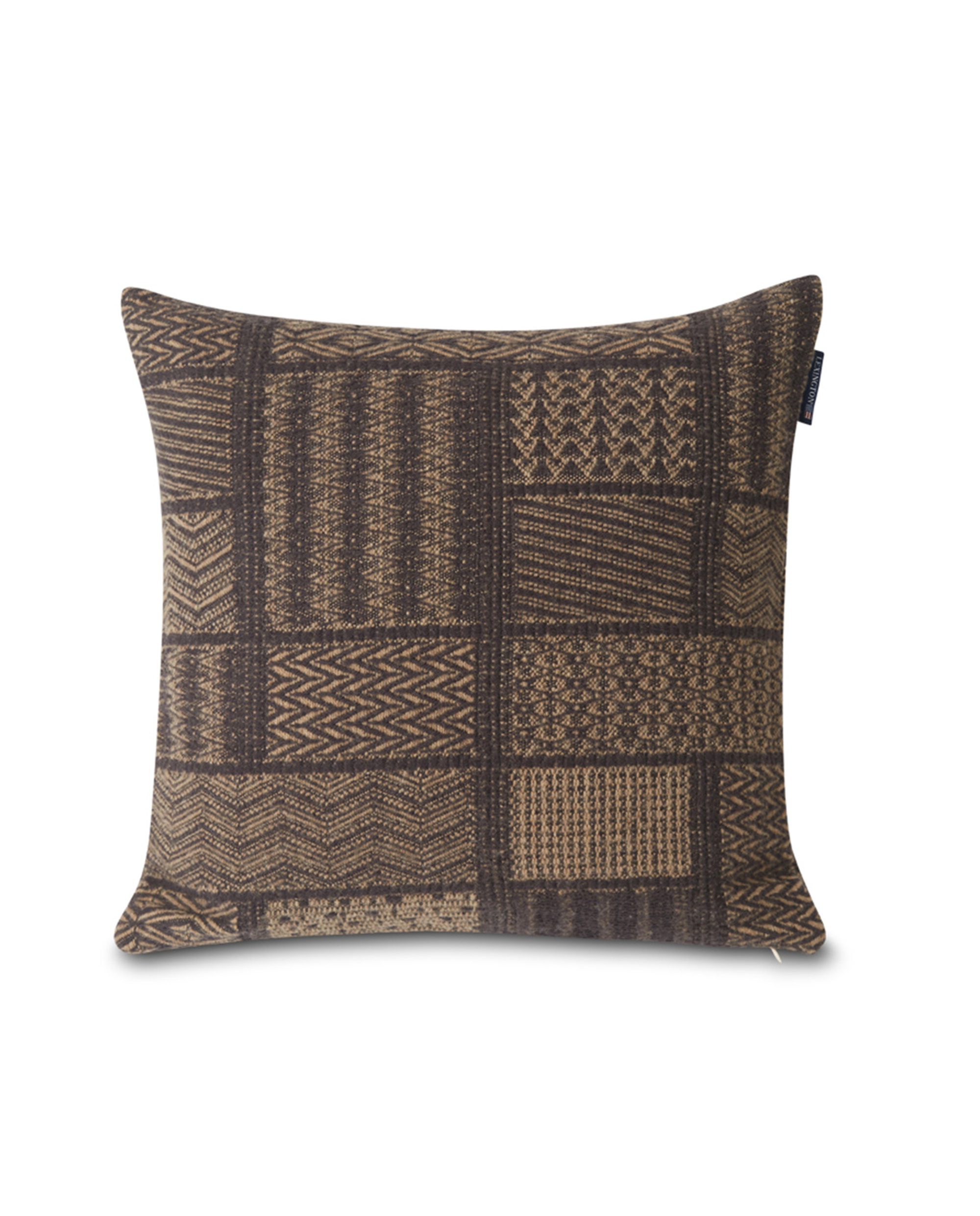 Patch Artwork Cotton/Wool Pillow Cover