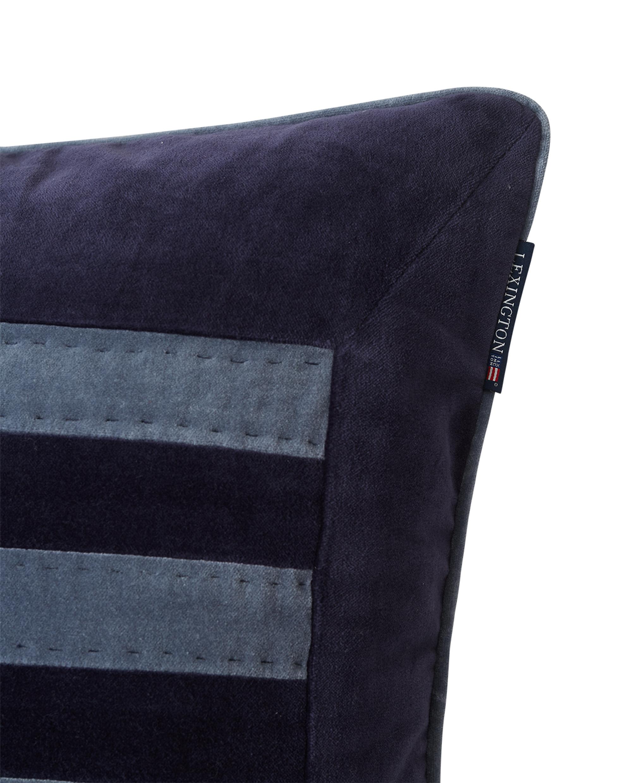 Arts & Crafts Cotton Velvet Pillow Cover, Blue