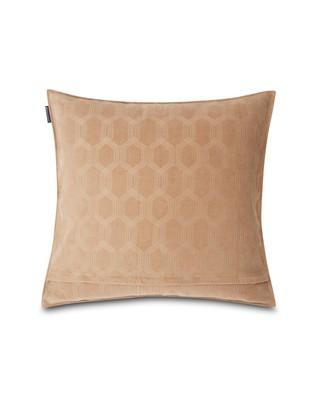 Jacquard Cotton Velvet Pillow Cover 50x50cm, Dark Beige