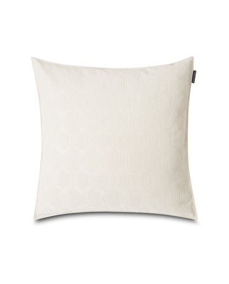 Jacquard Cotton Velvet Pillow Cover 50x50cm, Off White