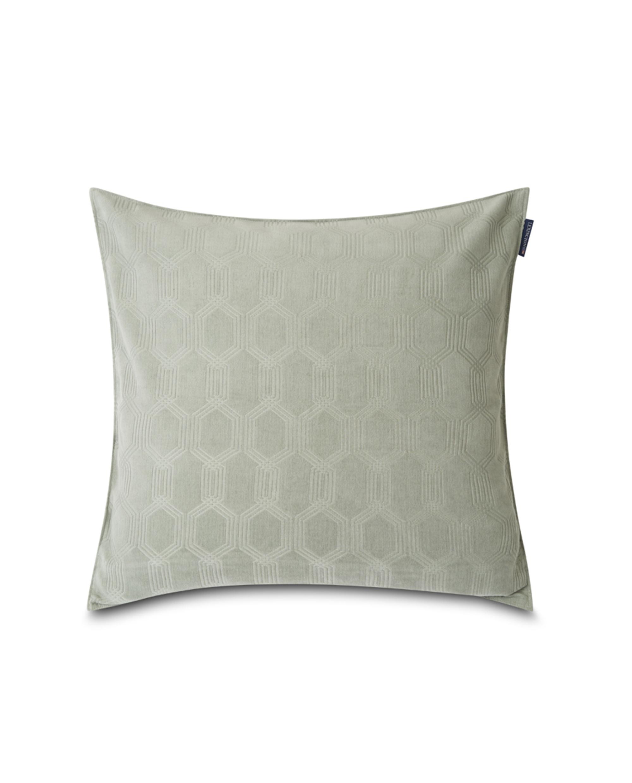 Jacquard Cotton Velvet Pillow Cover 50x50cm, Sage Green