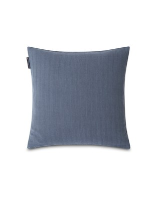 Herringbone Lexington Logo Pillow Cover, Blue