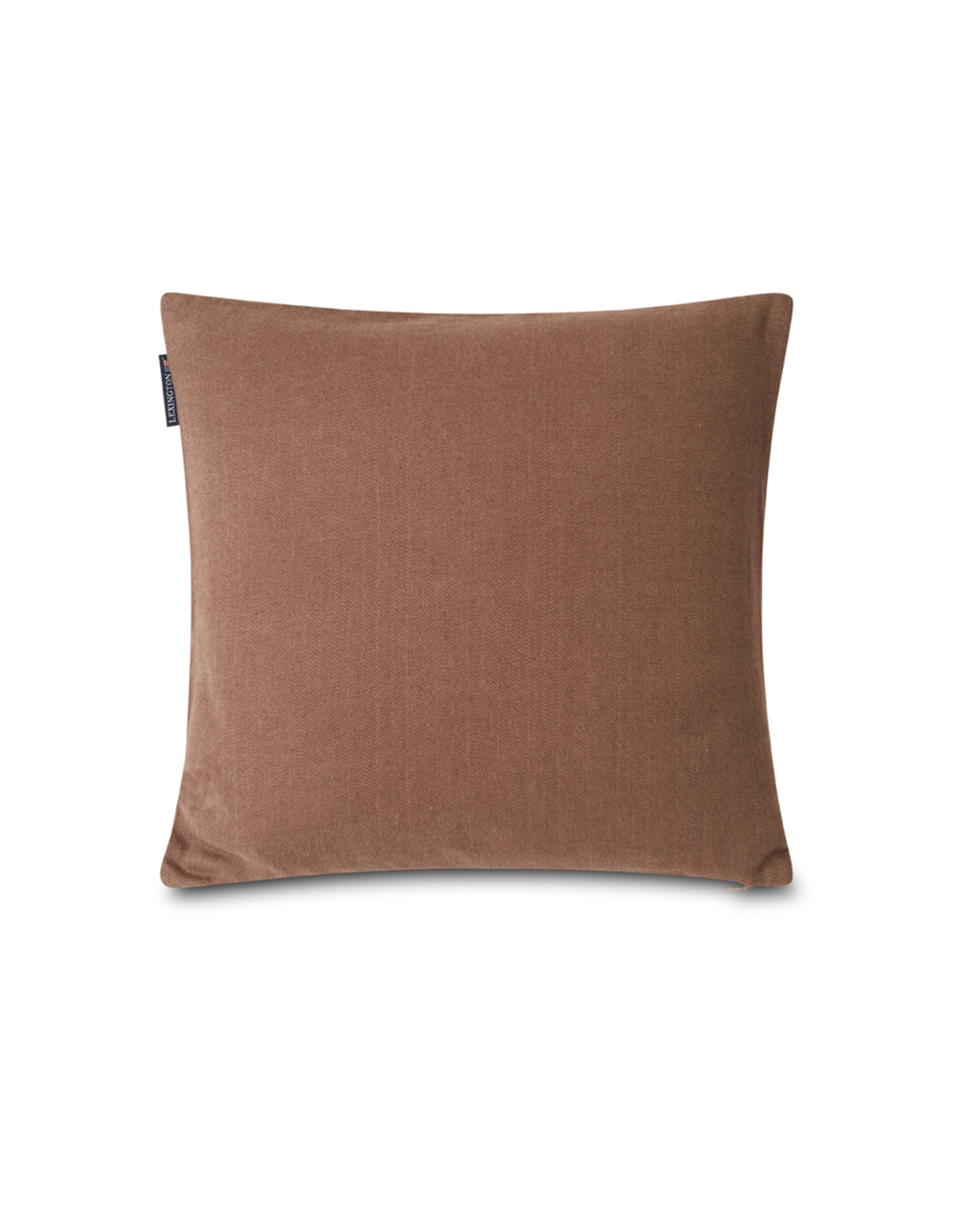 Herringbone Lexington Logo Pillow Cover, Brown