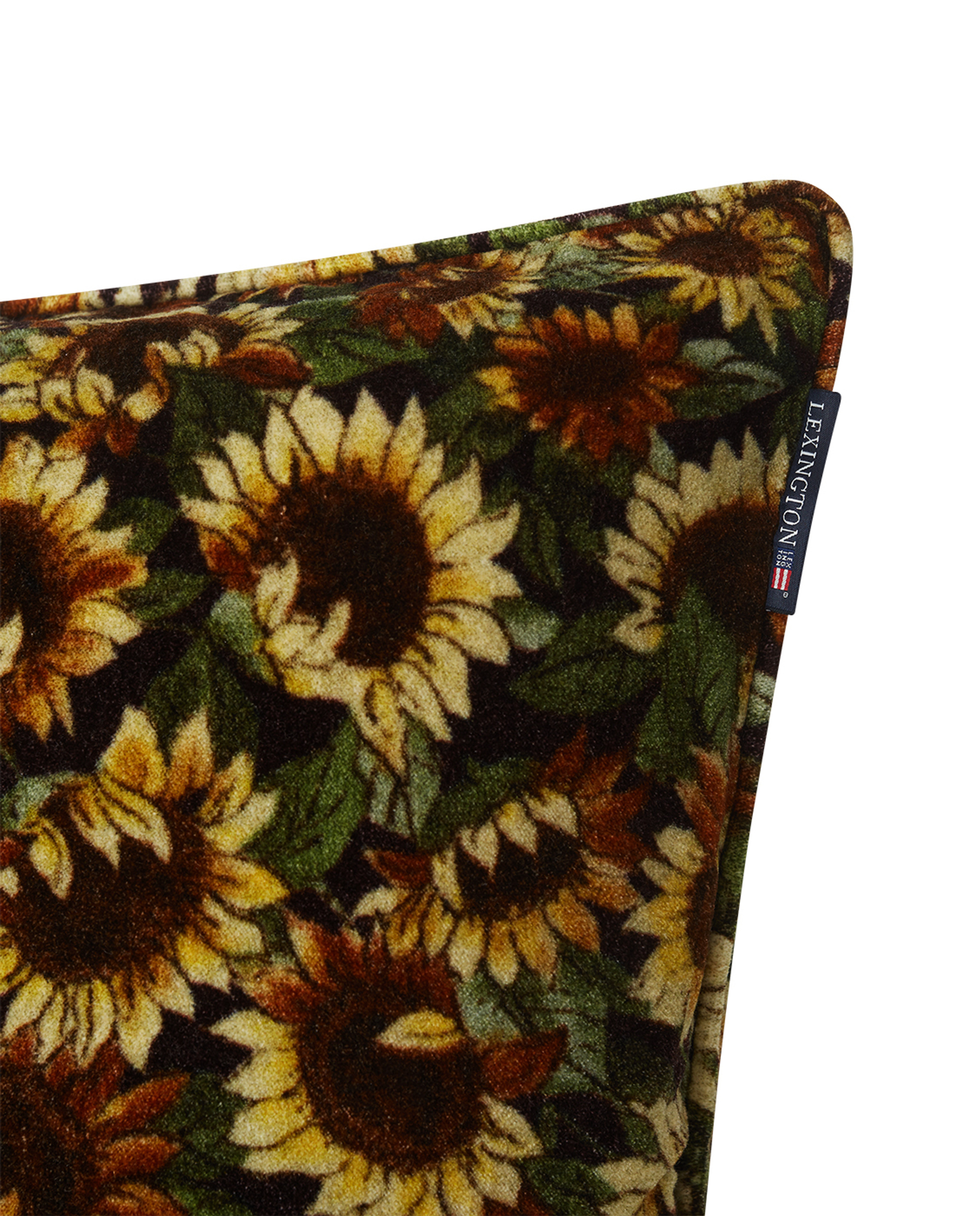 Flower Printed Cotton Velvet Pillow Cover