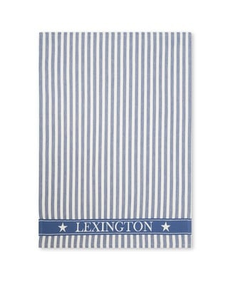 Striped Classic Cotton Twill Kitchen Towel, Blue/White