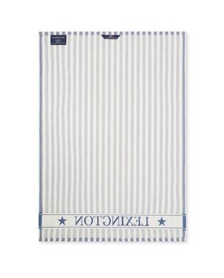 Striped Classic Cotton Twill Kitchen Towel, Blue/White