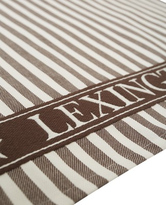 Striped Classic Cotton Twill Kitchen Towel, Brown/White