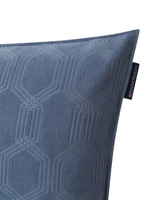 Jacquard Cotton Velvet Pillow Cover 65x65cm, Steel Blue
