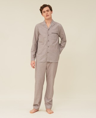 Unisex Organic Cotton Chambray Pajama Set