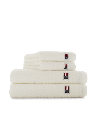 Icons Cotton/Lyocell Structured Terry Towel White