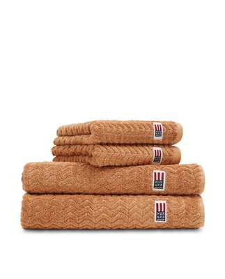 Cotton/Tencel Structured Terry Towel Caramel