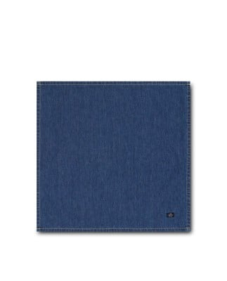 Icons Cotton Twill Denim Napkin