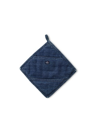 Icons Cotton Twill Denim Potholder
