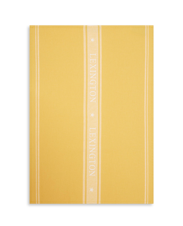 Icons Cotton Jacquard Star Kitchen Towel, Yellow/White