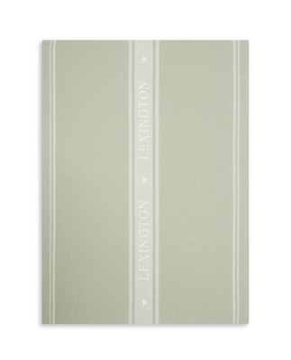 Icons Cotton Jacquard Star Kitchen Towel, Sage Green/White