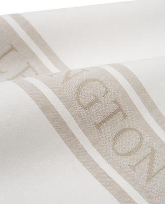 Icons Cotton Jacquard Star Kitchen Towel, White/Beige
