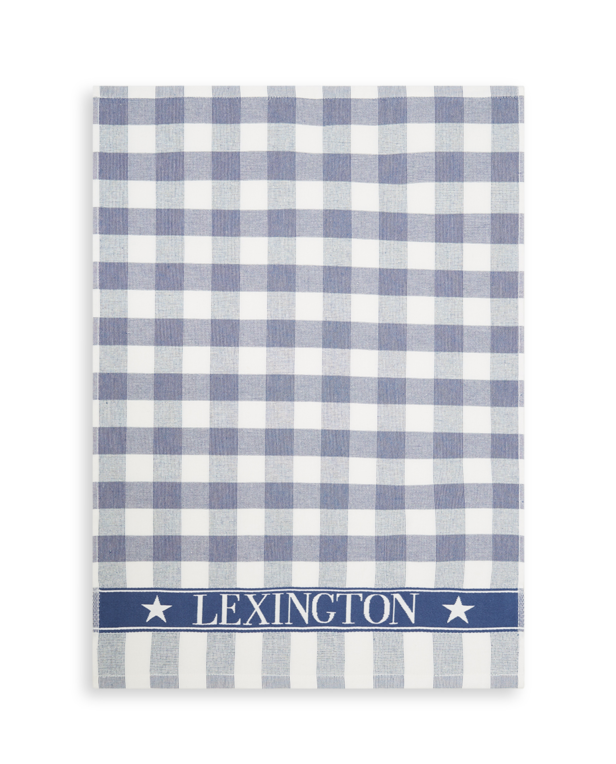 Icons Checked Cotton Terry Kitchen Towel, Blue/White