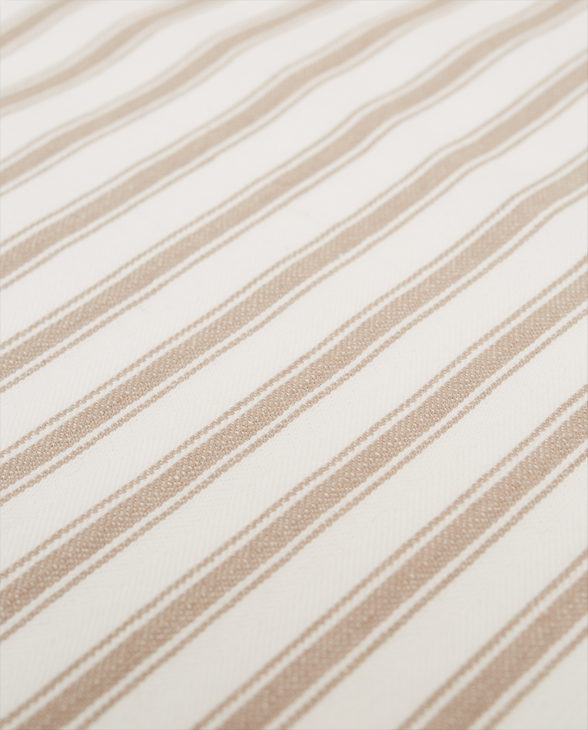 Icons Cotton Herringbone Striped Placemat, Beige/White