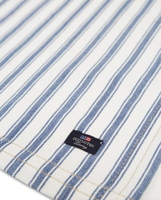 Icons Cotton Herringbone Striped Placemat, Blue/White