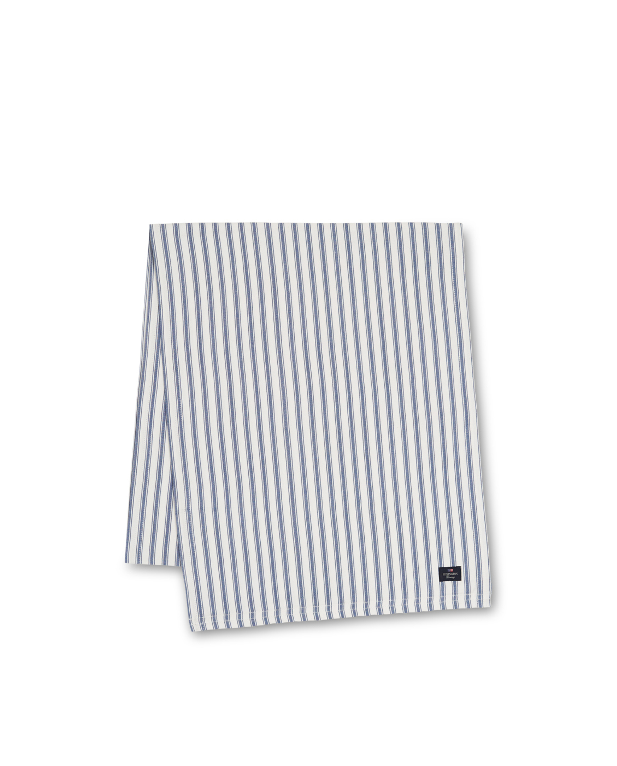 Icons Cotton Herringbone Striped Runner, Blue/White