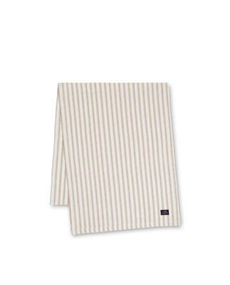 Icons Cotton Herringbone Striped Runner, Beige/White