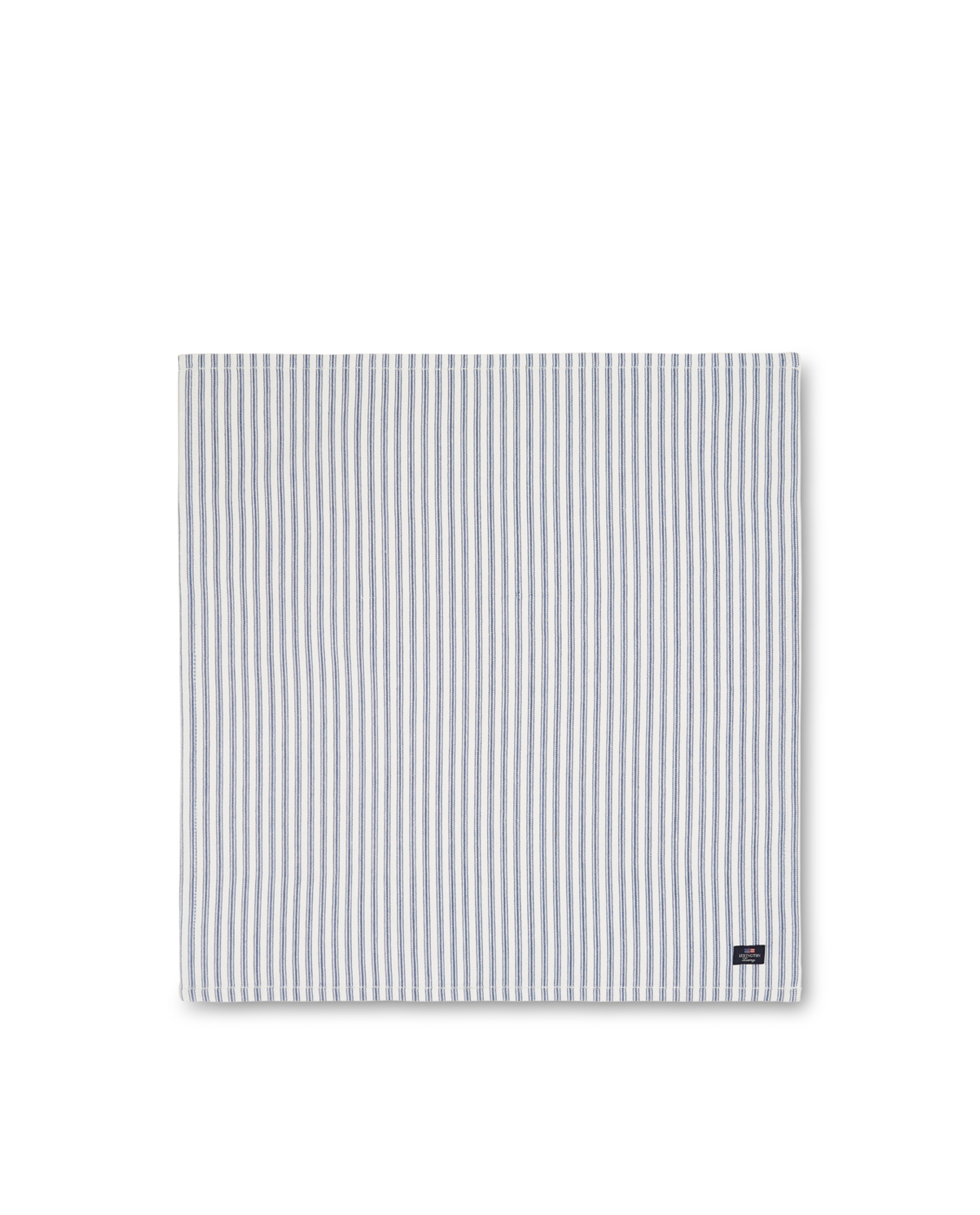 Icons Cotton Herringbone Striped Napkin, Blue/White