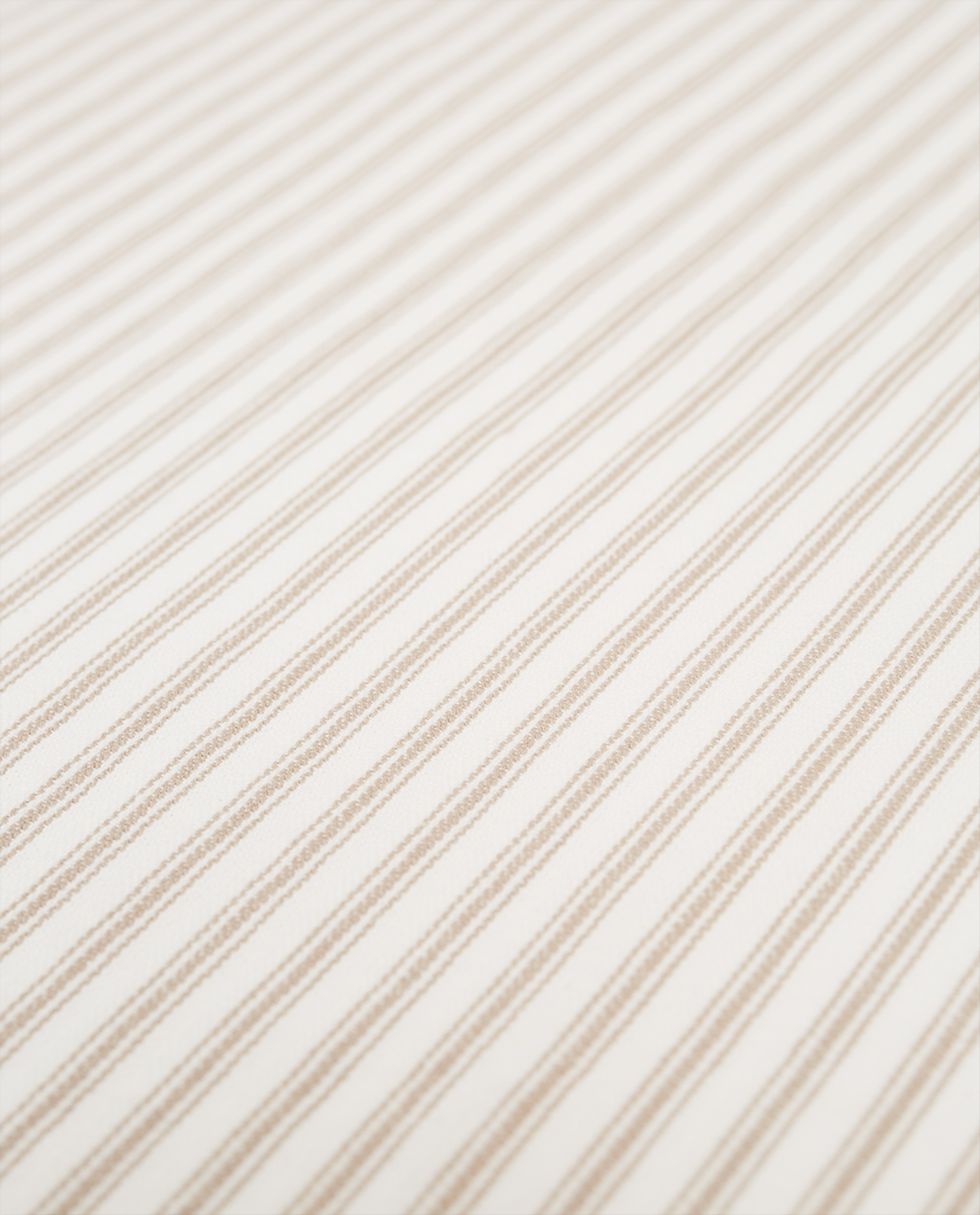 Icons Cotton Herringbone Striped Napkin, Beige/White