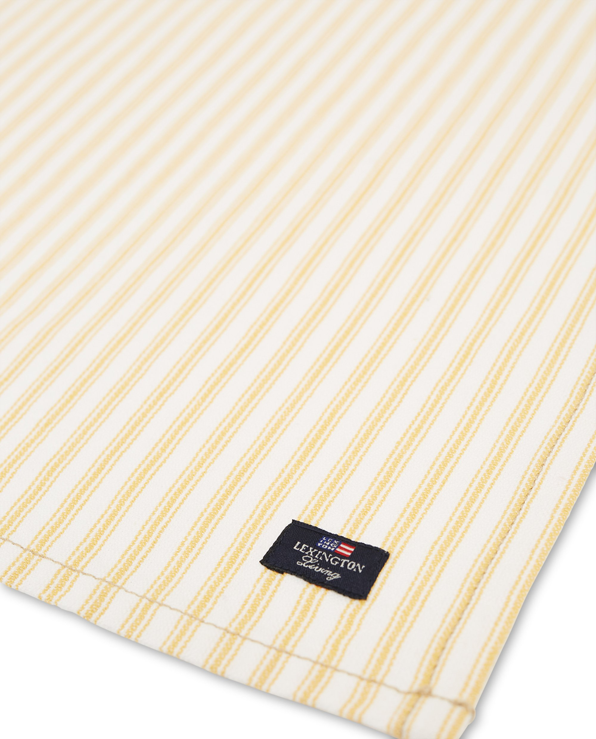 Icons Cotton Herringbone Striped Napkin, Yellow/White