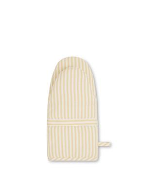 Icons Cotton Herringbone Striped Mitten, Yellow/White