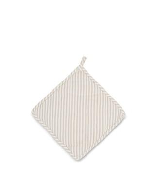 Icons Cotton Herringbone Striped Potholder, Beige/White