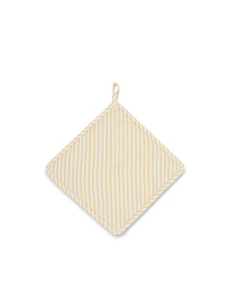 Icons Cotton Herringbone Striped Potholder, Yellow/White