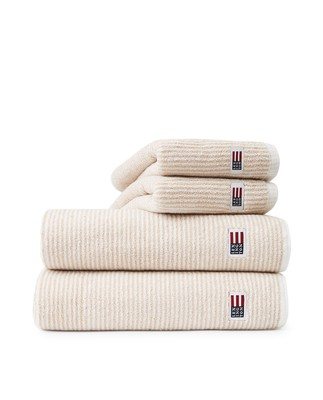 Original Towel White/Tan Striped