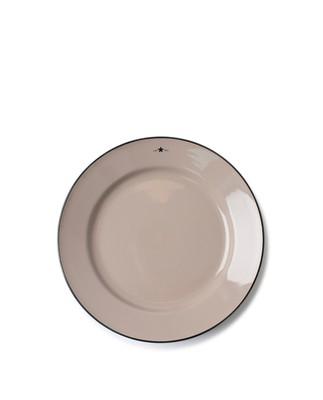Stoneware Dinner Plate, Beige