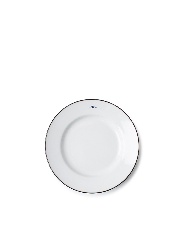 Stoneware Dessert Plate, White