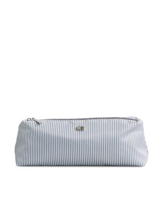 Icons Small Toilet Bag, Gray/White