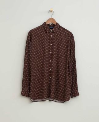 Edith Dot Print Viscose Shirt