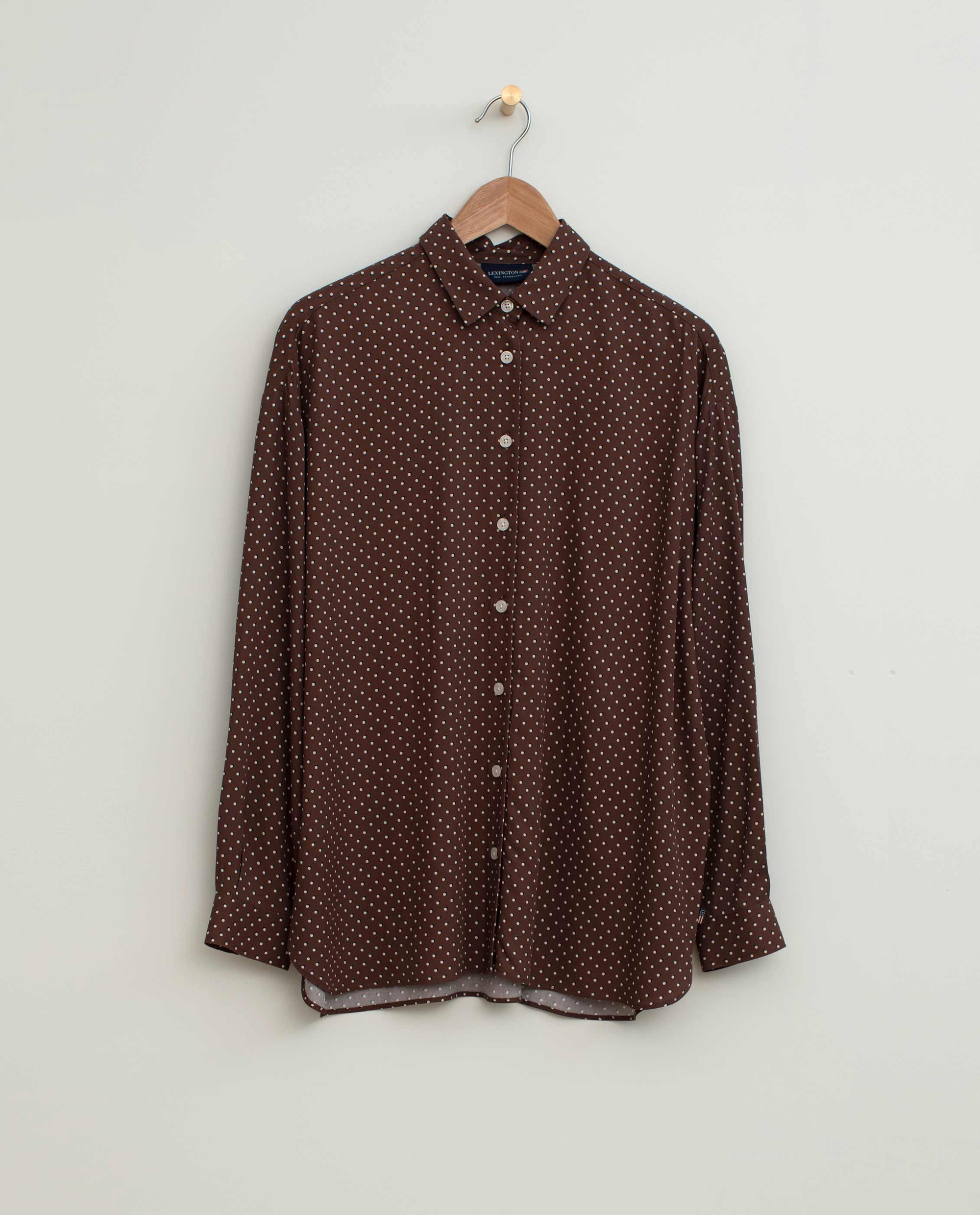 Edith Dot Print Viscose Shirt
