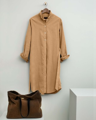 Isa Corduroy Shirt Dress