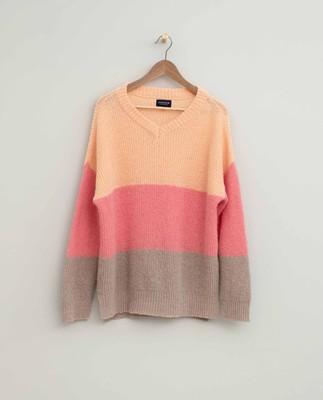 Claire Block Stripe Sweater