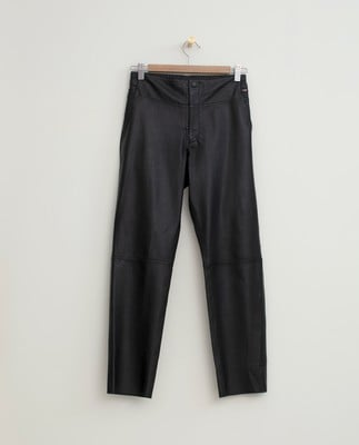 Olivia Leather Pants, Black