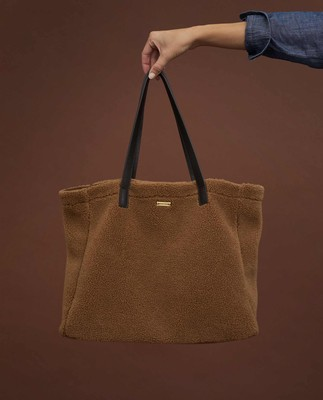 Wildflower Sherpa Wool Blend Tote Bag