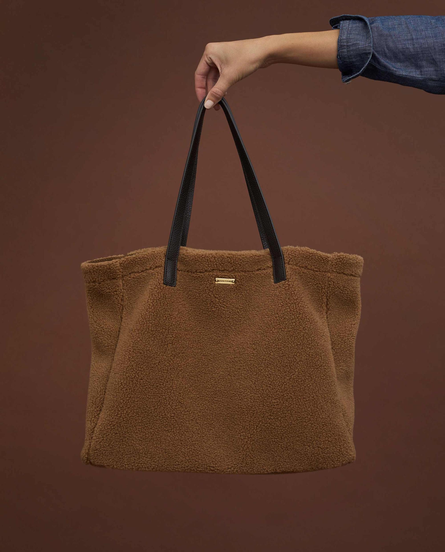 Wildflower Sherpa Wool Blend Tote Bag