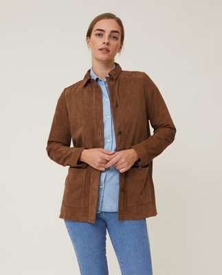 Kathy Suede Worker Shirt