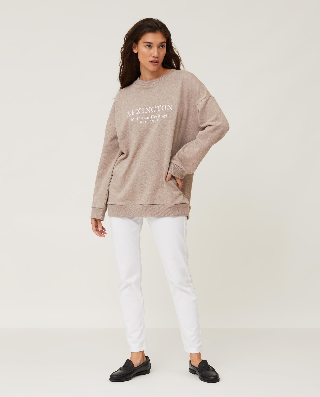 Kibby Sweatshirt, Light Brown Melange