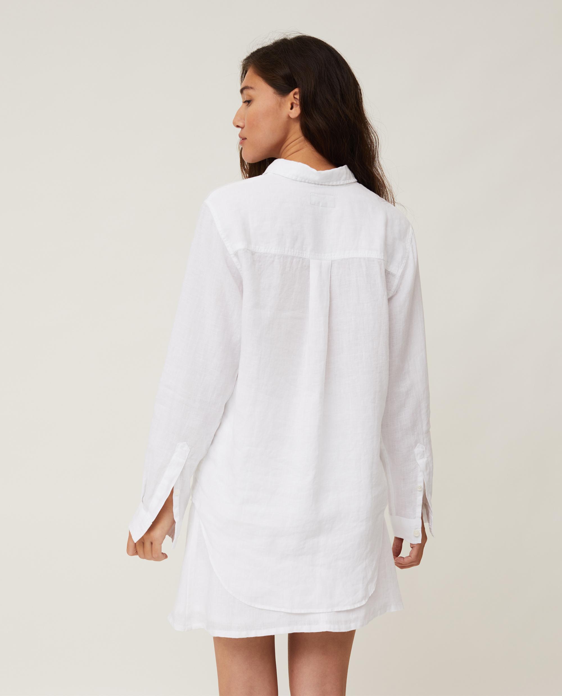 Isa Linen Shirt, White