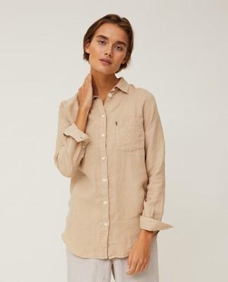 Isa Linen Shirt, Beige
