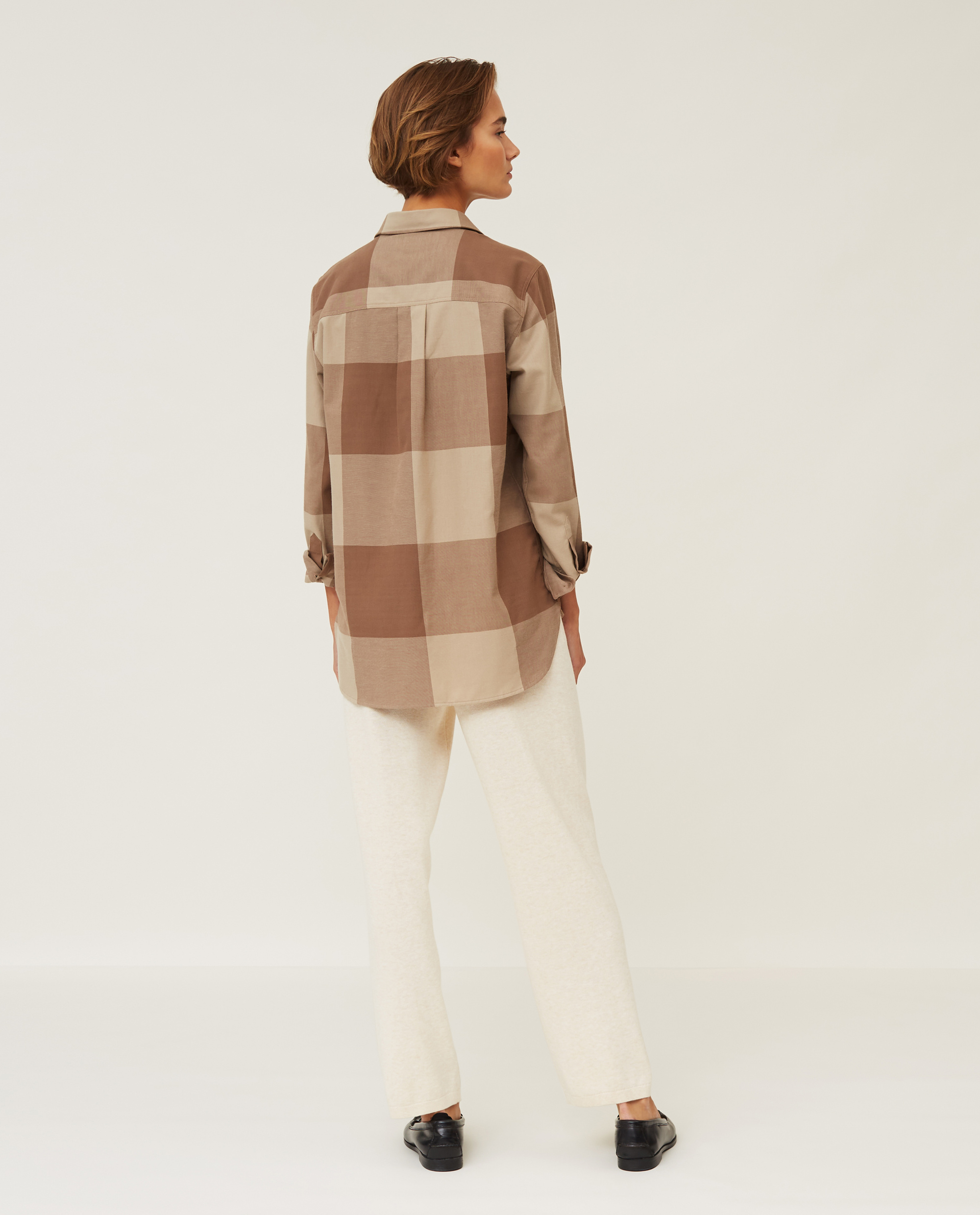 Isa Check Organic Cotton Flannel Shirt