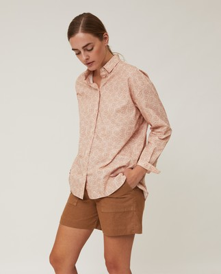 Edith Flower Poplin Shirt